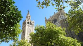 Domkyrka av Seville, Andalusia, Spanien royaltyfri foto