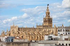 Domkyrka av Seville i Spanien royaltyfri bild