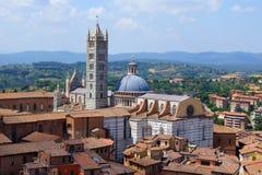Domkyrka av Siena, övre sikt Arkivbilder
