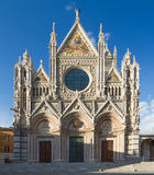 Domkyrka av Siena, Tuscany, Italien Royaltyfria Bilder