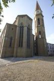 Domkyrka av sikter för skymt för Arezzo Tuscan domkyrkakyrka Royaltyfria Foton