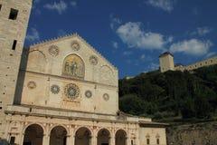 Domkyrka av Spoleto Arkivfoto
