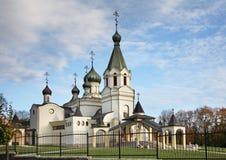 Domkyrka av St Alexander Nevsky i Presov slovakia fotografering för bildbyråer
