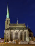 Domkyrka av St Bartholomew i Plzen, Tjeckien royaltyfri fotografi