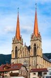 Domkyrka av St Johann im Pongau, Österrike Arkivbild