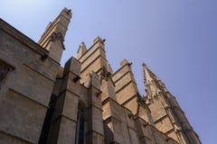 Domkyrka av St Mary av Palma Cathedral de Santa Maria de Palma de Mallorca arkivfoto