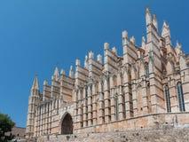 Domkyrka av St Mary av Palma Cathedral de Santa Maria de Palma de Mallorca fotografering för bildbyråer