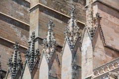Domkyrka av St Mary av Palma Cathedral de Santa Maria de Palma de Mallorca royaltyfria bilder