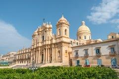 Domkyrka av St Nicholas av Myra i Noto, sydliga Sicilien, Italien Royaltyfri Foto