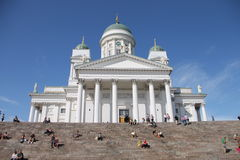 Domkyrka av St Nicholas (domkyrka) i Helsingfors, Finland Royaltyfria Foton