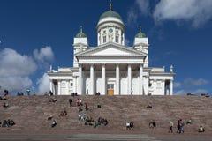 Domkyrka av St Nicholas helsinki finland Royaltyfria Foton