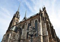 Domkyrka av St Peter och Paul, Brno, Tjeckien, Europa Royaltyfria Foton