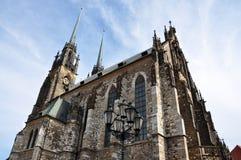 Domkyrka av St Peter och Paul i Brno, Tjeckien, Europa Arkivbild