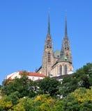 Domkyrka av St Peter och Paul, Tjeckien, Europa Arkivbild