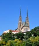 Domkyrka av St Peter och Paul, Tjeckien, Europa Royaltyfria Foton
