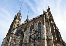 Domkyrka av St Peter och Paul, Tjeckien, Europa Arkivbilder