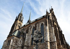 Domkyrka av St Peter och St Paul, Brno, Tjeckien, Europa Arkivfoton