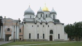 Domkyrka av St Sophia i Veliky Novgorod arkivfilmer