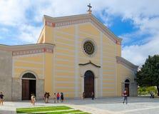 Domkyrka av St Stephen Franciscan Church av Ruga-Ndre-Mdzheda, Shkoder, Albanien fotografering för bildbyråer