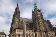 Domkyrka av St Vita Prague tjeckisk republik Arkivbild