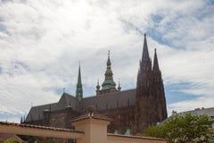 Domkyrka av St Vita Prague tjeckisk republik Arkivfoto
