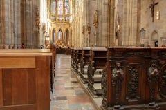 Domkyrka av St Vito, den mest härliga domkyrkan av Prague Royaltyfria Bilder