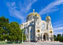 Domkyrka av StNicholas i Kronstadt Royaltyfri Bild