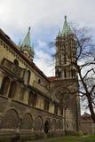 Domkyrka av Sts Peter och Paul Dom i Naumburg Fotografering för Bildbyråer