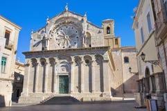 Domkyrka av Troia. Puglia. Italien. arkivbild