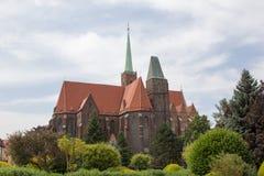 Domkyrka av Wroclaw Arkivfoton