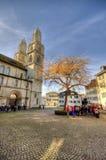 Domkyrka av Zurich Royaltyfria Bilder