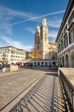 Domkyrka av Zurich, Schweiz Arkivbild