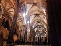 Domkyrka Barcelona Arkivbild