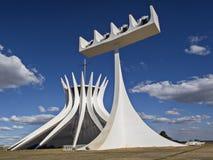 Domkyrka Brasilia arkivbild