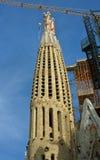 Domkyrka Cagrada Familia Arkivbilder
