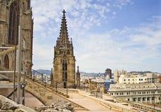 Domkyrka Catedral de Barcelona för Barcelona ` s Royaltyfria Foton