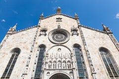 Domkyrka Como, Italien Fotografering för Bildbyråer