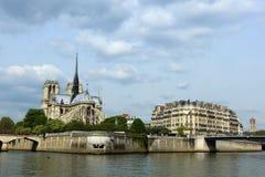 domkyrka dame de notre paris fotografering för bildbyråer
