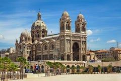 Domkyrka de la Ha som huvudämne i Marseille, Frankrike Arkivbilder