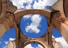Domkyrka de Santiago är en romare - katolska kyrkan, Antigua Guatemala Arkivbild