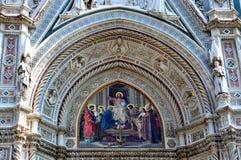 domkyrka del fiore florence italy maria santa royaltyfri bild