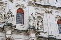 Domkyrka för basilikada Estrela i Lissbon, Portugal Katolsk domkyrka och västra kristendomen Arkitektonisk sikt in arkivfoto