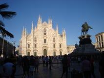 Domkyrka för Duomo` s och fyrkanten royaltyfria foton