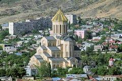 Domkyrka för helig Treenighet av Tbilisi, Georgia Royaltyfria Bilder