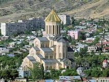 Domkyrka för helig Treenighet av Tbilisi, Georgia Royaltyfri Bild