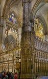 Domkyrka för inreSt MarÃa de Toledo, Toledo, Spanien arkivfoto