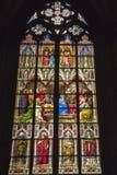 Domkyrka för målat glassfönster av Cologne arkivbilder