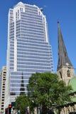 Domkyrka för Montreal anglikansk Kristuskyrka Fotografering för Bildbyråer
