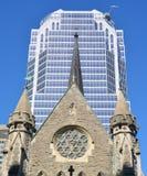 Domkyrka för Montreal anglikansk Kristuskyrka Arkivbilder