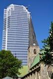 Domkyrka för Montreal anglikansk Kristuskyrka Arkivbild